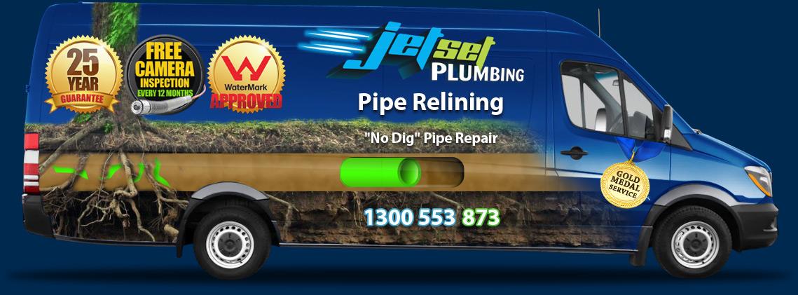 Jetset Plumbing pipe relining van